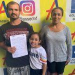 Luiz Carlos Martins – pai da aluna Victória Martins – Escola Assed – Nova Friburgo, RJ